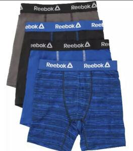 Reebok Boys Stretch Boxer Briefs S M L XL Cool & Dry Underwear (4 Pairs)