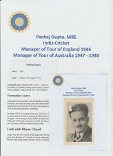 PANKAJ GUPTA INDIAN CRICKET MANAGER 1946-52 VERY RARE ORIGINAL AUTOGRAPH PICTURE
