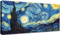 Quadro Moderno Cm 100x50 Stampa su Tela Arredamento Arte Arredo Casa Van Gogh