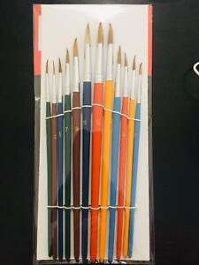 12 x artist paint brushes set Professional Brush Set oil acrylic watercolour UK