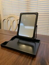 Mary Kay Folding Stand Up Travel Make-up Mirror with Tray and Mesh Bag Black