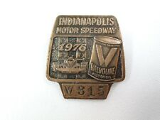 1976 Indianapolis 500 Bronze Pit Badge #315 Johnn Rutherford Valvoline Motor Oil