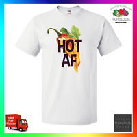 Hot AF TShirt T-Shirt Tee Pun As F**k Chilli Cute Date GF BF Swag Hype Cool