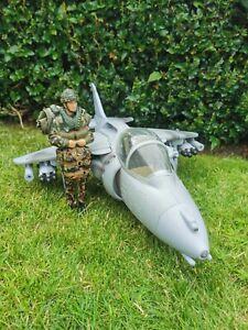 HM Armed Forces 🇬🇧 HARRIER Jump Jet Fighter Plane & Parachutist Toy Action Man