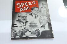 VINTAGE MAY 1950 SPEED AGE RACING CAR AUTO AUTOMOTIVE  MAGAZINE