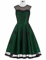NEW VINTAGE RETRO 50's STYLE FULL CIRCLE FLARED PINUP SWING DRESS EVENING PARTY