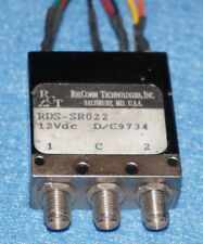 RELCOMM Technologies 18GHz 12V SMA RF Coaxial Switch
