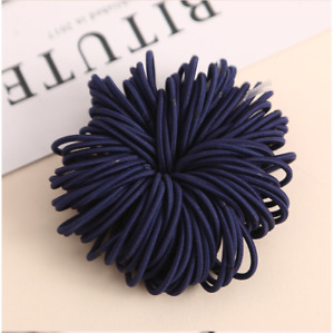 20 50 Girls 2mm Thin School Uniform Endless Hair Elastics Bobbles Bands Ponios