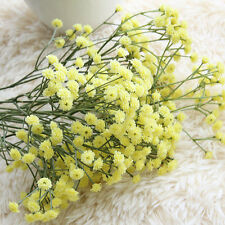 Fancy Artificial Fake Silk Flowers Gypsophila Home Party Wedding Bouquet Decor Yellow