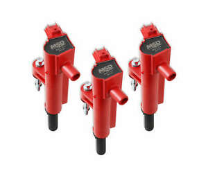 827376 MSD Ignition Coils Blaster Series, 2009-2013 Dodge, Jeep, Ram 3.7L, Red,