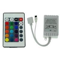 24 Key 12V Mini IR Remote Controller Für RGB 3528 & 5050 LED Light Strip Licht