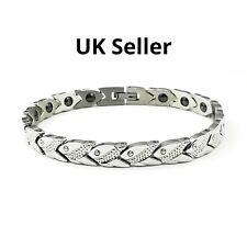 Stainless steel magnetic bracelet for arthristis, stress , energy, sleep..