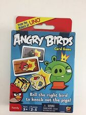 NEW ANGRY BIRDS CARD GAME MATTEL GAMES AGES 5+  2-5 PLAYERS