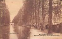CPA 77 MORET SUR LOING CAMPEMENT DE MARINIERS SUR LES BORDS DU CANAL