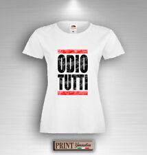 T-Shirt ODIO TUTTI New Grunge Retro Vintage Idea Regalo Uomo Donna Tumblr