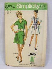 Vintage Simplicity Dress Pattern 1970 Size 16 Miss #8874
