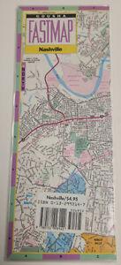 Nashville, Tennessee - Gousha Laminated Fastmap