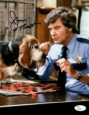 JAMES BEST ROSCO ON THE DUKES OF HAZZARD JSA AUTOGRAPHED 8X10 PHOTO