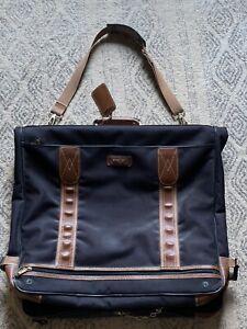 Delsey Large Hanging Wardrobe Suiter Garment Bag Luggage Nylon Leather Trim