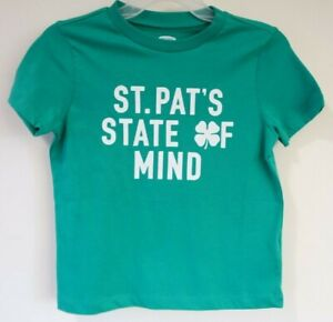 BNWT Old Navy St. Pat's State Of Mind St. Patrick's Day Shirt Size 5