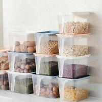 1 Pc Kitchen Transparent Storage Box Sealed Jar Organizer Food Containers Refrig