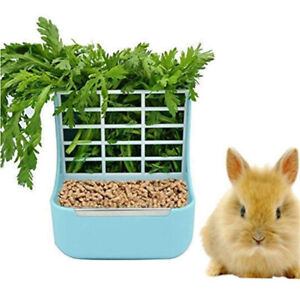 Pink Food Hay Holder for Rabbit Cage Accessories Pet Bunny Supplies Feeder Bowls