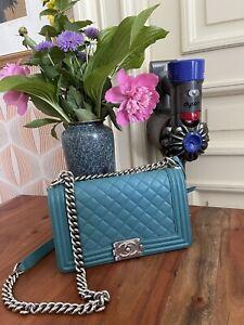 Chanel Tasche original Bag Boy timeless Zubehör Blau Tasche Wow!