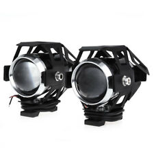 2pcs U5 SUPERIORE LOW MOTO FARO MOTO LED FARO FENDINEBBIA ROTONDO light-black