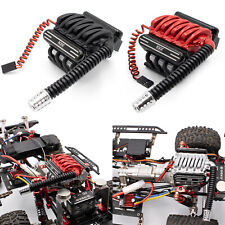 KYX V8 Engine Cover Motor Radiator Fan for 1/10 Axial SCX10 II TRX-4 RC Crawler