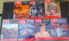 LIFE Magazines, How The West Was Won 7 issues 1959, Marilyn Monroe wild old west