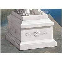 """Lion Of Florence Sentinel Design Toscano Exclusive Faux Stone 13"""" Base"""