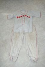 Vintage Wool US Marines Baseball Uniform Unused top Felt Lettering