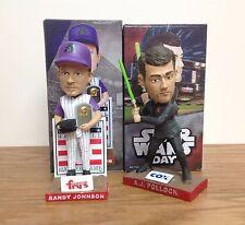 Randy Johnson and AJ Pollock Jedi Knight Star Wars Diamondbacks Bobbleheads SGA