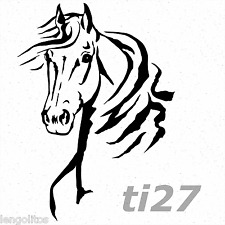 Wandtattoo Pferdekopf ti27 Wandaufkleber Pferd Portrait Deko TürAufkleber