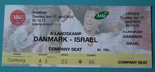 OLD TICKET friendly Denmark Israel 2002