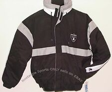 Vintage 90s Oakland LA RAIDERS STARTER Jacket SEWN LTR NFL ProLine NWT LG Last 1