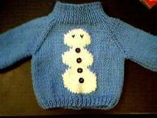 Customized Christmas Snowman Sweater Handmade for 14 inch Build A Bear Cub
