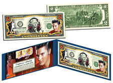 ELVIS PRESLEY *red*Legal Tender US $2 Bill `COLORIZED LICENSED `COLLECTIBLE GIFT