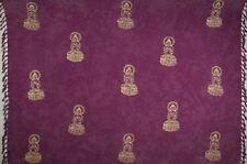 Batik Rayon Sarong - Buddha on Purple - Fringed