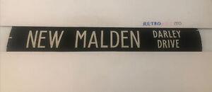 """Norbiton London Bus Destination Blind 6.9.85 42""""- New Malden Darley Drive"""
