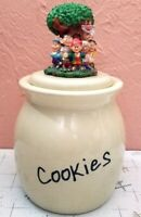 Keebler Cookie Jar Canister Cookies Elves 2003 Tree on Lid Elf Ceramic