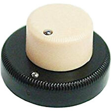 NEW (1) Concentric Stacked Knob for Danelectro Guitar or Bass, CREAM / BLACK