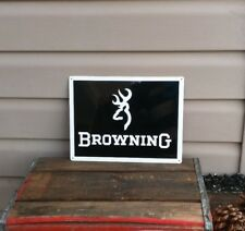 BROWNING FIRE ARMS Metal Sign Gun Shop Hunting Advertising 9x12 50091