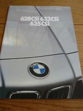 BMW 6 SERIES BROCHURE 1980 81 jm