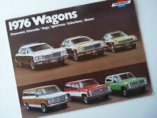Brochure Chevrolet wagons  1976 (USA) !