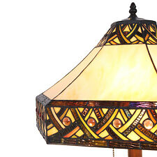 "Tiffany Style Stained Glass Alhambra Table Lamp 16"" Shade"
