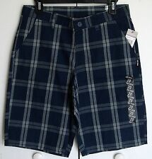 Boy's Zoo York Plaid Navy Walk Shorts - Sz. 20
