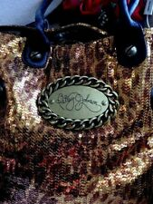 BETSEY JOHNSON BRONZE SEQUINS CARRY ALL TRAVELING VACATION XXXXL