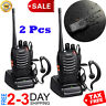 Long Range Walkie-Talkie 2 Set 50 Mile Two Way Radio Charge Headset Waterproof