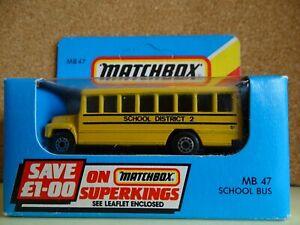 MATCHBOX MB-47 SCHOOL BUS